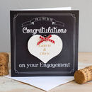 Chalkboard Engagement Card And Personalised Heart