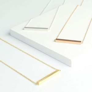Horizontal Bar Necklace - necklaces & pendants