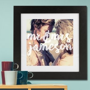 Personalised Photo 'Mr And Mrs' Framed Print - personalised wedding gifts
