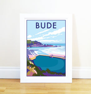 Bude Vintage Style Seaside Poster