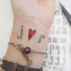 Spell Your Own Temporary Tattoo - hen party ideas