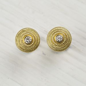18ct Gold And Diamond Earrings - earrings