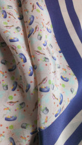Hand Drawn Silk Crepe De Chine Small Bird One Off, 2nd
