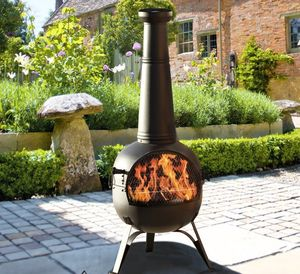 Chiminea Patio Heater And Grill - fire pits & outdoor heating