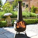 Bronze Chiminea Patio Heater And Grill