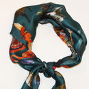 Silk Satin Chiffon Teacup Scarf