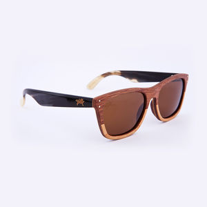 Magellan Two Tone Padauk Unisex Sunglasses - best valentine's gifts for him