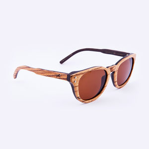 Waldeck Wooden Zebrawood Unisex Sunglasses - men's accessories