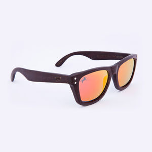 Cavendish Wooden Wenge Iridium Unisex Sunglasses
