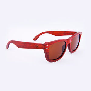 Cavendish Wooden Padauk Unisex Sunglasses