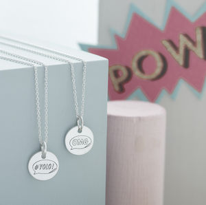 Personalised #Hashtag Sterling Silver Necklace - women's jewellery