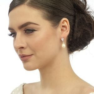 Selfridge Vintage Pearl And Crystal Earrings - wedding fashion