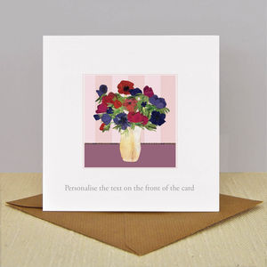 Luxury Illustrated 'Anemone' Vintage Card - birthday cards