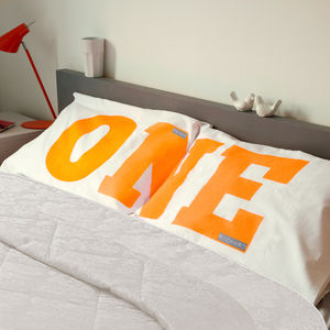 Personalised 'We Are One' Pillowcase Set - bedroom