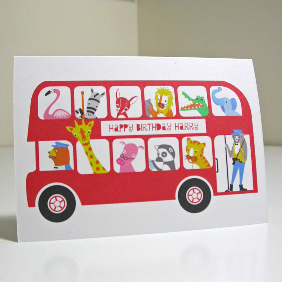 London Bus Child's Birthday Or Greetings Card