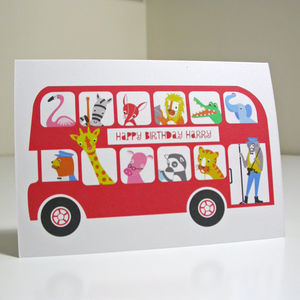 London Bus Child's Birthday Or Greetings Card - shop by category