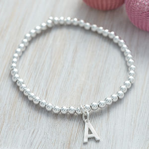 Personalised Sterling Silver Initial Ball Bracelet