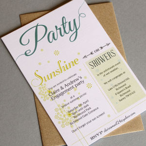 Outdoor Party Invitations - wedding stationery