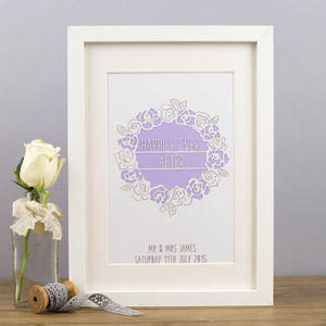 'Happily Ever After' Personalised Papercut