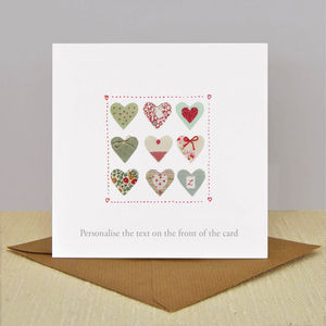 Luxury Mothers Day 'Heart Textile' Vintage Card - mother's day cards