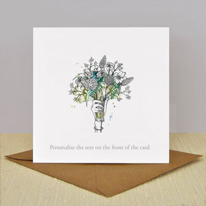 Luxury Illustrated 'Flowers' Card - mother's day cards