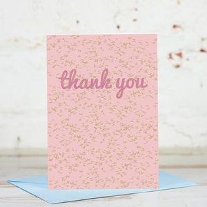 Thank You Flock Of Birds Card - thank you cards