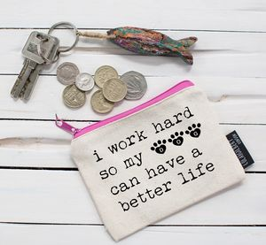 'I Work Hard For My Dog' Purse - purses & wallets