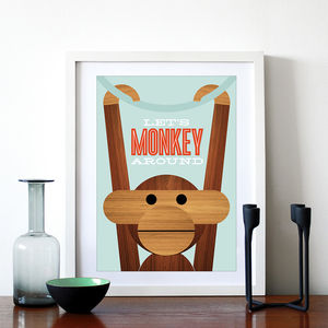 'Let's Monkey Around' Print