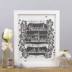 Personalised Wedding Laser Cut - personalised wedding gifts