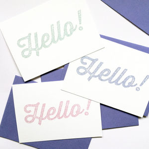 'Hello' Notecards - notelets & writing paper