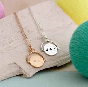 Spinning Decisions Necklace