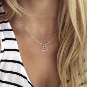 Medium Single Triangle Necklace - contemporary jewellery
