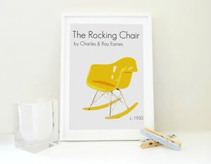 Art Print The Eames Rocking Chair