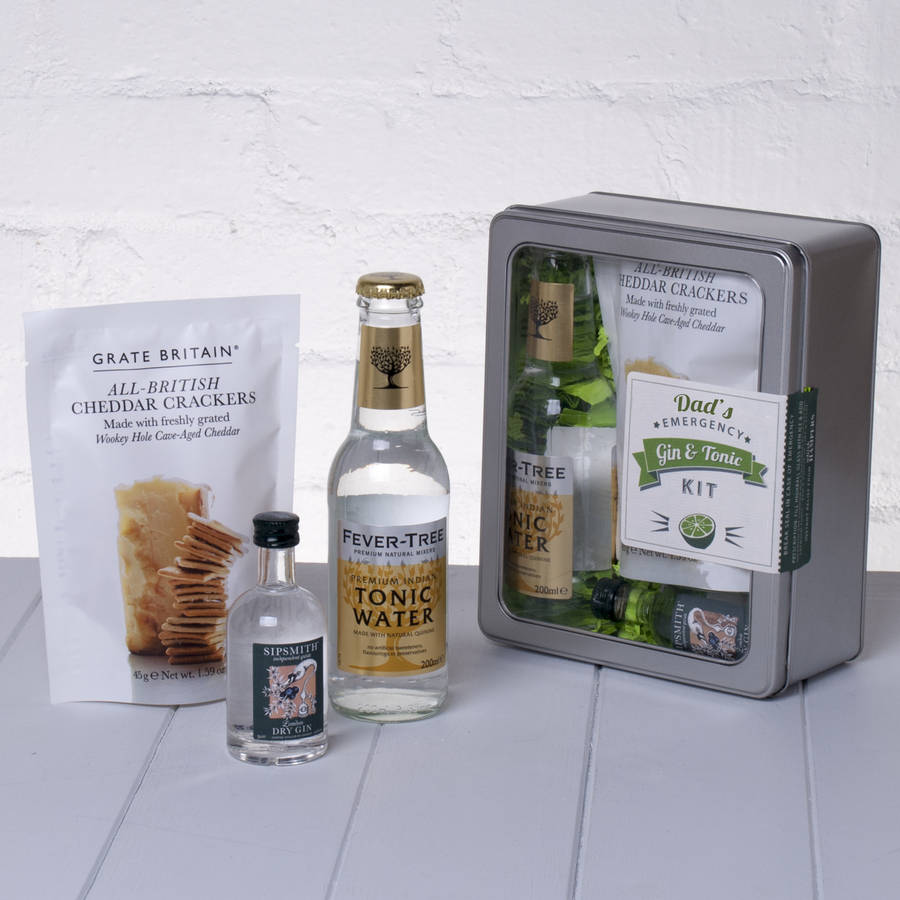 Dad's Emergency Gin And Tonic Kit With Crackers