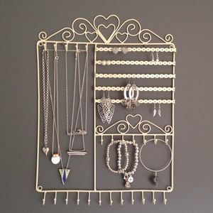 Wall Jewellery Hanger Hooks Necklaces Two Colours - jewellery storage & trinket boxes