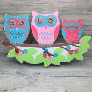 Girl Bedroom Pink Owl Jewellery Hooks
