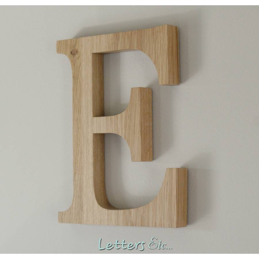 Wooden letters wall hanging by letters etc - Wood letter wall decor ...
