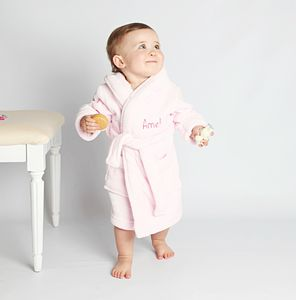 Personalised Fleece Baby Robe For Girls