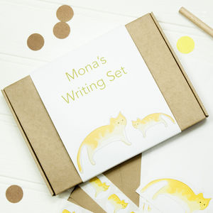 Personalised Playful Cat Writing Set - toys & games