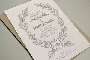 'Enchanted' Letterpress Wedding Stationery - invitations