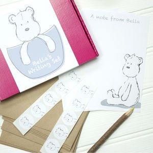 Personalised Pebbles The Bear Children's Writing Set - toys & games