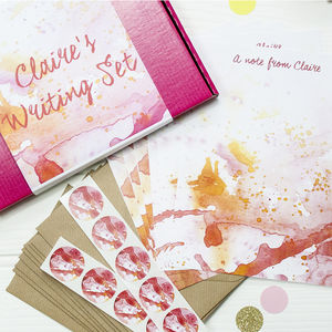 Personalised Watercolour Splat Writing Set - view all sale items