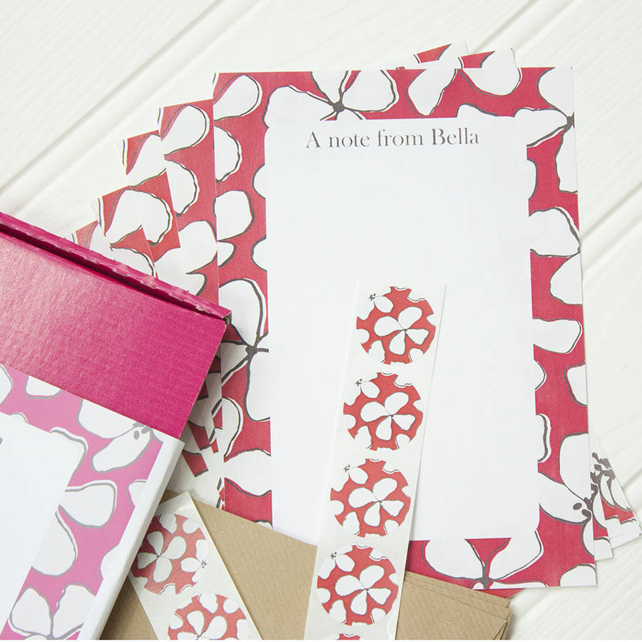 personalised flower writing set by alexia claire | notonthehighstreet ...