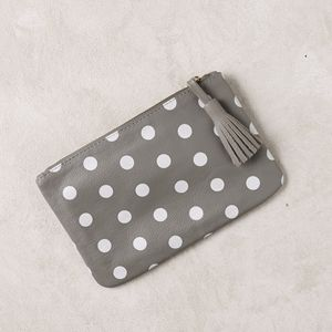Claire Polka Dot Leather Clutch - bags