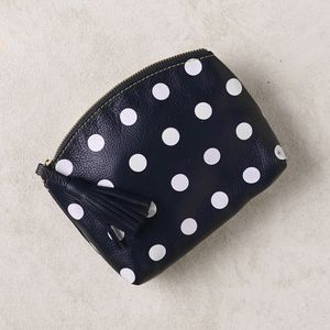 Marie Polka Dot Leather Clutch - clutch bags