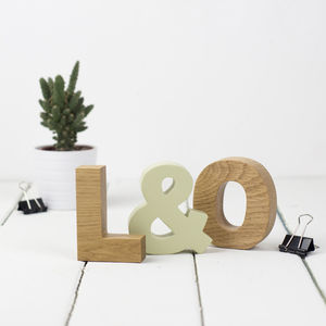 Wooden Letters Small Oak Initials Set - what's new