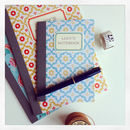 Recycled Personalised Patterned A5 Notebooks