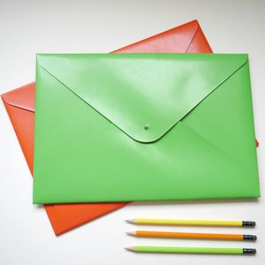 Personalised Large A4 Leather Document Folder - laptop bags & cases