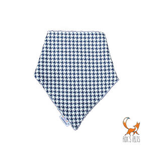 Houndstooth Dribble Bib