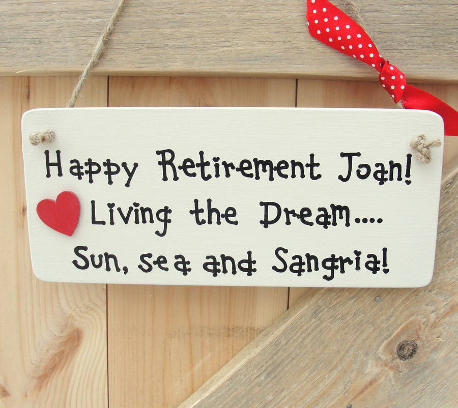 Personalised Retirement Sign
